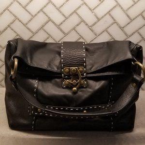BCBG soft leather Natalya medium Handbag black